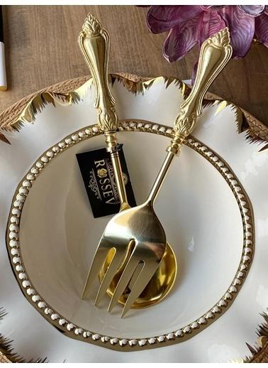 Mikasa Moor Salata Servis Seti Gold Klasik 2'Li Renkli